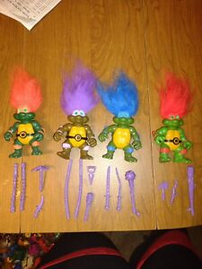 TMNT 1993 Turtle Trolls Mostly Complete Teenage Mutant Ninja Turtles Lot # 47
