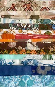 100g Vintage Cotton Fabric Scrap Bundle Sewing Remnants Jonelle X 15