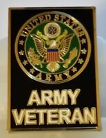 "US ARMY ""VETERAN"" large 1.5 inch  Pin"