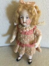 Antique Doll German Bisque Cabinet Small Display Custom Costume 5""