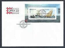 2021 Bluenose (1921-2021) Ltd FDC with Overprinted CAPEX 22 Souvenir Sheet