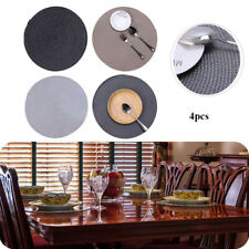4x Jacquard Weaved Non Slip Placemats Round Dining Table Mats Heat Resistant UK