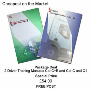 DRIVING INSTRUCTOR LESSON PLANS Cat C+E, C and C1