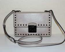 NWT MICHAEL Michael Kors Sloan Stud Large Leather Gusset Crossbody/Shoulder Bag