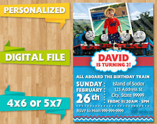 *DIGITAL FILE* THOMAS THE TANK TRAIN ENGINE BIRTHDAY PARTY INVITE INVITATION