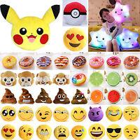 Emoji Smiley Donut Singe oreiller emoticône Coussin farcies peluche jouet Décor