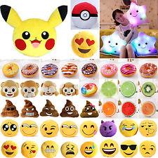 Emoticon Affe Donut Smiley Sofa-Kissen Deko-Kissen Plüsch Stuhlkissen Plüschtier