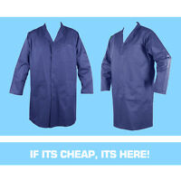 WAREHOUSE LAB COAT COVERALL - NAVY / ROYAL BLUE / WHITE