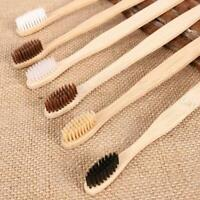 10x Disposable Bamboo Toothbrush Wooden Teeth Brush Wooden Hand Remove Oral Care