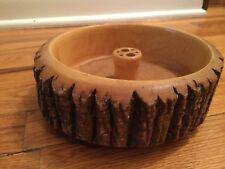 Vintage Ellwood Rusticware Wood Bark Nut Bowl - NO TOOLS