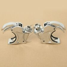 Chrome 41mm Windshield Windscreen Clamps For Harley Dyna Wide Glide FXDWG 93-05
