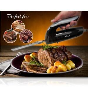 NutriChef PKELKN8 Electric Cutting & Carving Knife Slicer Black