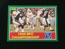 1989 NFC CHAMPIONSHIP 49ERS VS CHICAGO BEARS SCORE FOOTBALL CARD