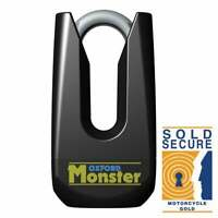Oxford Monster Sold Secure Gold Approved Motor Bike Motorcycle Disc Lock - Black