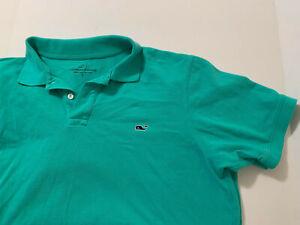 VINEYARD VINES green cotton short sleeve polo shirt Men's L