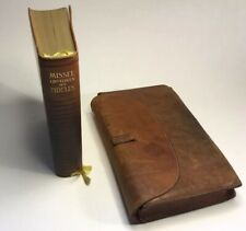 Mid Century Leather French Missel w Leather Cover & Engravings