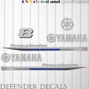 Yamaha 8 HP Four Stroke  outboard engine decal sticker reproduction 8HP 2013