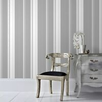 Superfresco Easy Paste the wall Gradient Stripe Silver Wallpaper