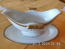 Sauciere Porzellan sehr alt weiß Porzellan LHS Hutschenreuther Selb Top.