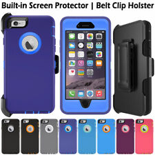 Heavy Duty Shockproof Rugged Combo Case Cover, Belt Clip Fit Otterbox For iPhone