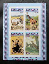TIMBRES ANIMAUX DIVERS : TANZANIE 1986 BLOC FEUILLET N° 47** Non Dentelé - TBE