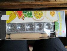 Boxed  Raviolcasa 12  Italian Ravioli Maker with Rolling Pin