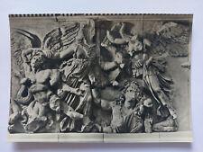 Pergamon Altar Sculpture Berlin Museum  B&W Postcard c1960s