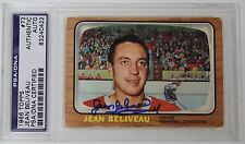 JEAN BELIVEAU SIGNED 1966 TOPPS MONTREAL CANADIENS HOCKEY CARD PSA/DNA
