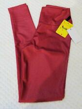 """Old Gold Junior's Wide 4.5/""""  Waistband Smooth Faux Leather leggings M"""