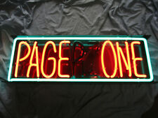 """Tube Neon Sign , 1980's """" Pager Zone """" or """" Page One """" Sign Used"""
