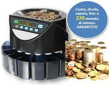 CONTAMONETE, CONTA MONETE 8 CASSETTI PROFESSIONALE, SEPARA MONETE, SEPARATORE €