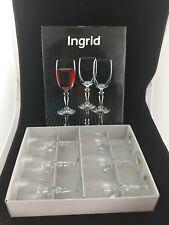 Set 6 Wine Glass Lead Crystal Bohemia Ingrid 200 ML Goblet NIB