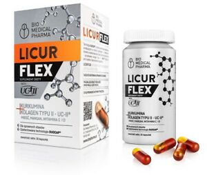 LICUR FLEX Micellar Curcumin + Collagen, Vitamin C, Vitamin D, FREE P&P
