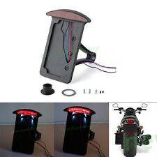 Motorcycle License Plate Bracket Mount Holder LED Light For Harley Dyna Fatboy