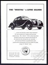 1948 Bristol 2 liter saloon car illustrated vintage print ad