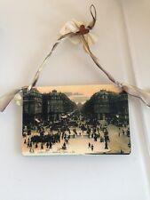New Antique Style Paris Avenue De L'Opera Postcard Vintage Patina Hang