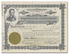 Reorganized Carrie Silver Lead Mines Corporation Stock Certificate
