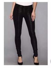 Hudson Sz 26 / 2 Jeans Nico Midrise Super Skinny Black Stripe Metallic Manson