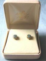 14K Gold & Topaz Earrings in box