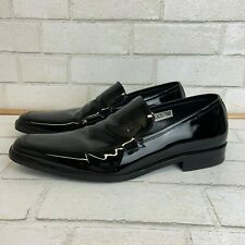 "Hugo boss Men's ""Canterbury"" Black, Patent Leather slip on Loafers Sz 10"
