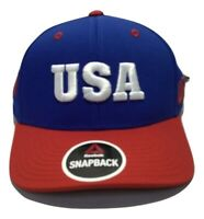 UFC Reebok MMA Blue Red Country Pride USA Rousey United States Snapback Hat Cap