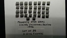 Monopoly Star Wars X WING FIGHTERS lot of 34 Limited Edition Replacement Piece