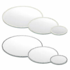 3 Size Round Diamond Mirror Candle Plate Cake Stand Table Wedding Centrepiece