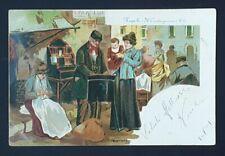NAPOLI IL CASTAGNARO ILLUSTRATORE S. DESTEFANO CARTOLINA VIAGGIATA 1901 F.P.