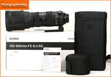 Sigma 150-600mm F5-6.3 S DG OS HSM Sports Lens for Nikon Free UK Postage