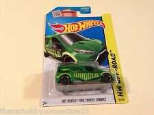 Hot Wheels Off-Road Ford Transit Connect Green Diecast Model Car