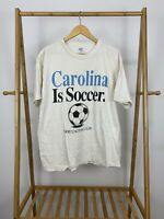 VTG UNC Carolina Is Soccer There's Nothing Else Single Stitch T-Shirt XL USA