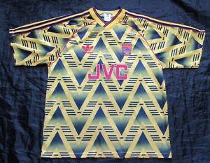 1991-1993 ARSENAL GUNNERS Shirt jersey ADIDAS Bruised Banana RETRO adult SIZE L