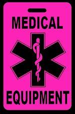Hi-Viz Pink Medical Equipment Carry-On Bag Tag - CPAP BiPAP APNEA POC