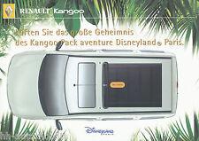 Prospectus renault Kangoo pack Aventure Disneyland paris 9 00 brochure auto voitures